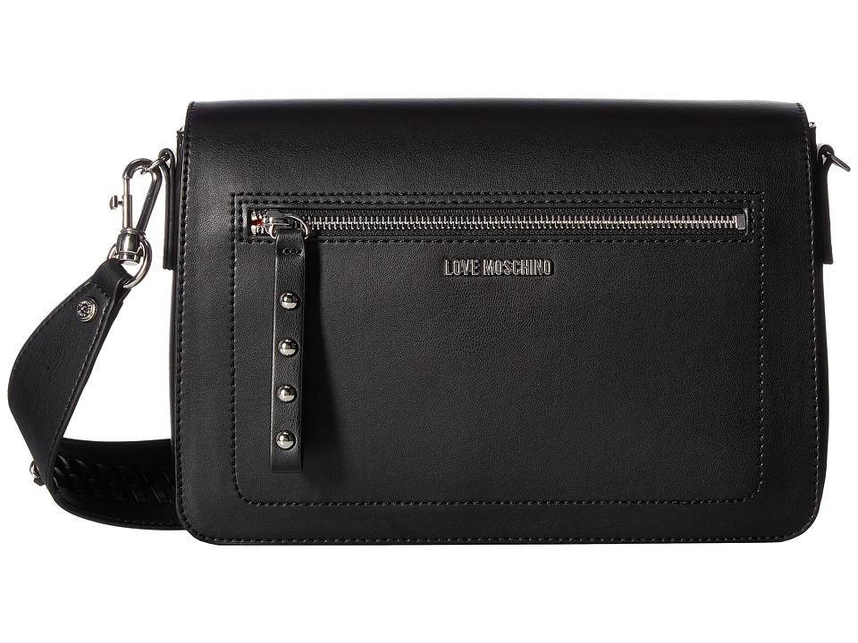 LOVE Moschino - Chain Strap Shoulder Bag (Black) Handbags
