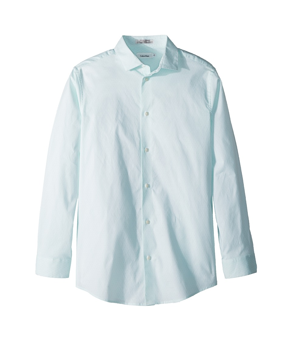 Calvin Klein Kids - Hexagon Dot Print Long Sleeve Shirt (Big Kids) (Torch Lake) Boys Clothing