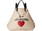LOVE Moschino Love Moschino Heart Canvas Backpack