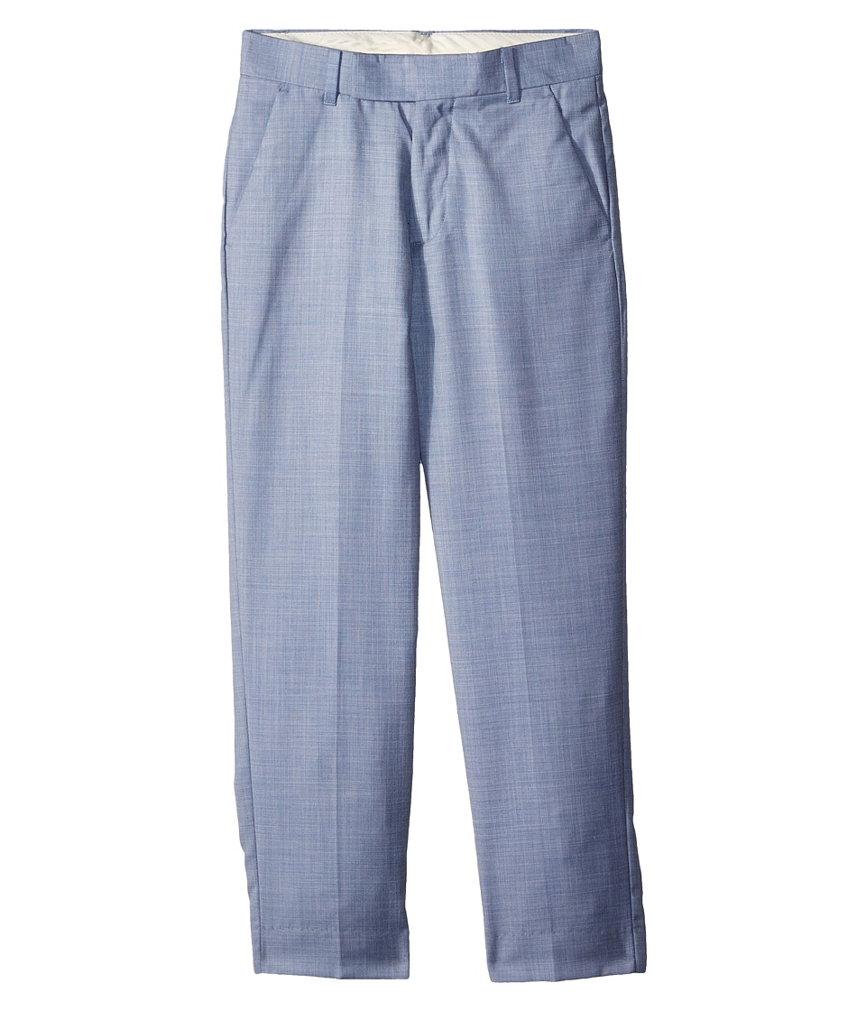 Calvin Klein Kids - Striated Sharkskin Pants (Big Kids) (Medium Blue) Boys Casual Pants