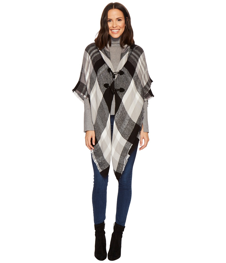 Collection Xiix Southwestern Plaid Jacket (Black) Women's...