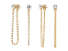 GUESS Stone Studs and Front to Back 6-Pair Ear Set Earrings