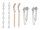 GUESS 9-Pair Mixed Studs and Mini Drops Earrings
