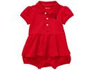 Ralph Lauren Baby Cotton Peplum Polo Shortalls (Infant)