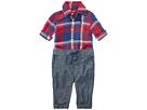 Ralph Lauren Baby Plaid Shirt Chambray Pants Set (Infant)