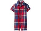 Ralph Lauren Baby Plaid Cotton Shortalls (Infant)
