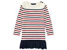 Polo Ralph Lauren Kids Striped Cotton Jersey Dress (Toddler)
