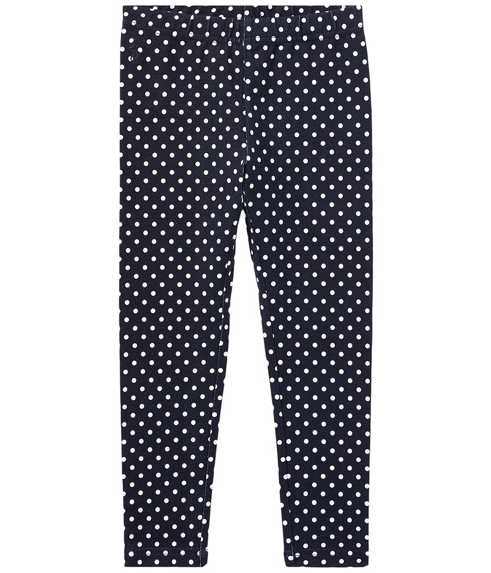 Polo Ralph Lauren Kids - Polka Dot Jersey Leggings (Little Kids) (Hunter Navy/White) Girls Casual Pants