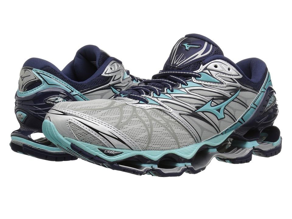 Mizuno Wave Prophecy 7 (Silver/Aqua Splash) Women's Running Shoes