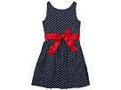 Polo Ralph Lauren Kids Dotted Twill Button Back Dress (Little Kids)