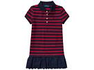 Polo Ralph Lauren Kids Eyelet Hem Mesh Polo Dress (Little Kids)