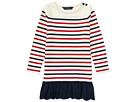Polo Ralph Lauren Kids Striped Cotton Jersey Dress (Little Kids)