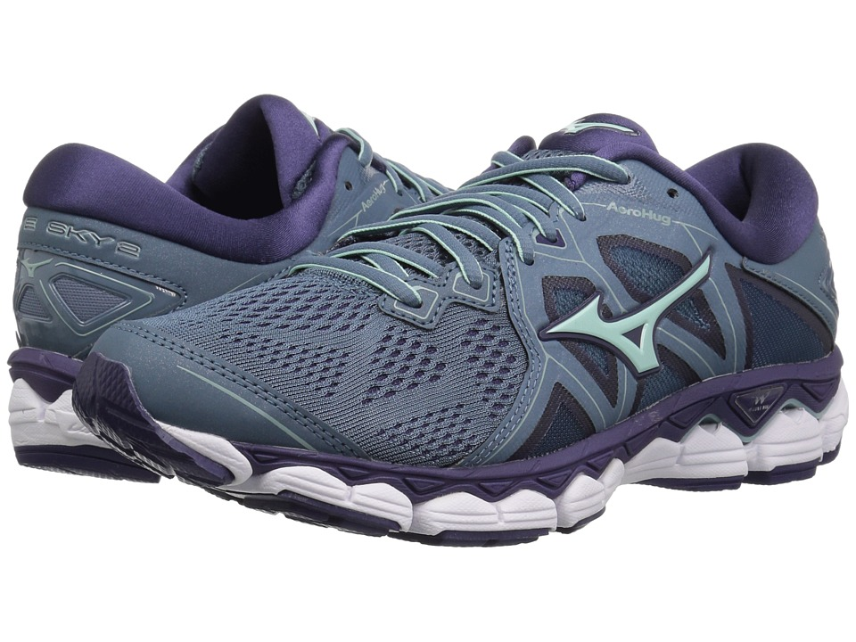 Mizuno Wave Sky 2 (Blue Mirage/Purple Plumeria) Women's Running Shoes
