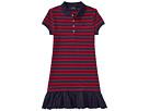 Polo Ralph Lauren Kids Eyelet Hem Mesh Polo Dress (Little Kids/Big Kids)