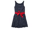 Polo Ralph Lauren Kids Dotted Twill Button Back Dress (Big Kids)
