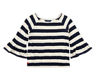 Polo Ralph Lauren Kids Striped Ruffle Sleeve Top (Little Kids/Big Kids)