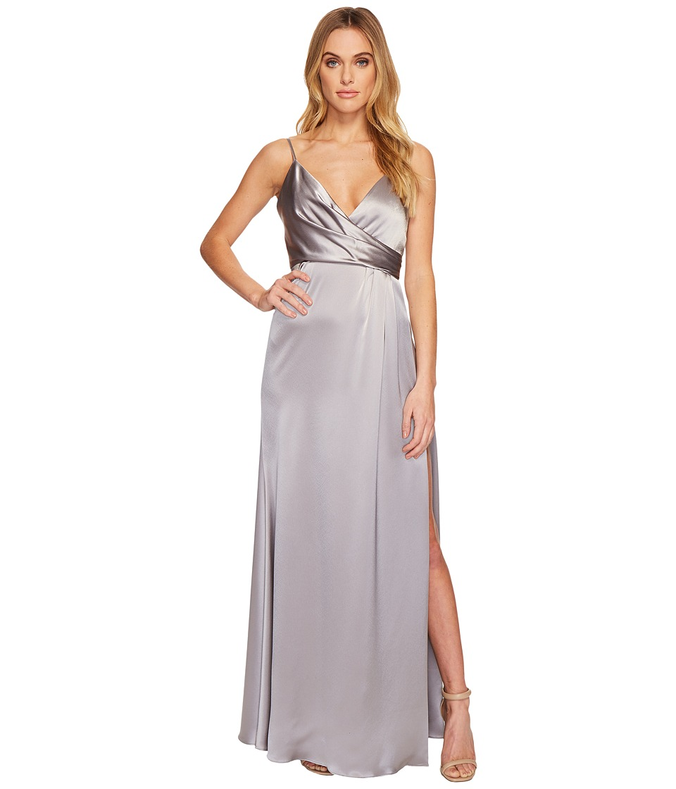 JILL JILL STUART - Satin Back Crepe Slip Dress (Silver/Gr...