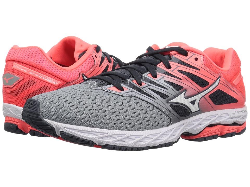 Mizuno Wave Shadow 2 (Tradewinds/Fiery Coral) Women's Running Shoes
