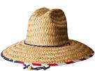 San Diego Hat Company San Diego Hat Company Straw Lifeguard w/ Under Brim Print