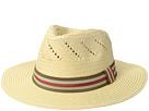 San Diego Hat Company Paper Fedora w/ Striped Grosgrain Band