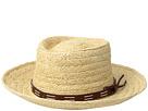San Diego Hat Company Raffia Gambler w/ Faux Leather Band