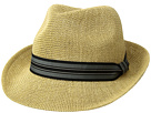 San Diego Hat Company Knitted Paper Fedora w/ Striped Grosgrain