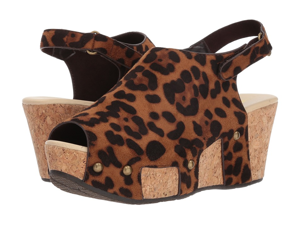 VOLATILE - Picadilly (Brown Leopard) Womens Wedge Shoes