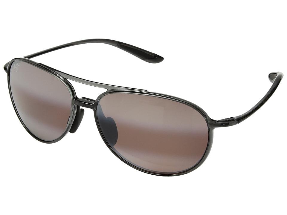 Maui Jim - Alelele Bridge (Translucent Smoke Grey) Athletic Performance Sport Sunglasses