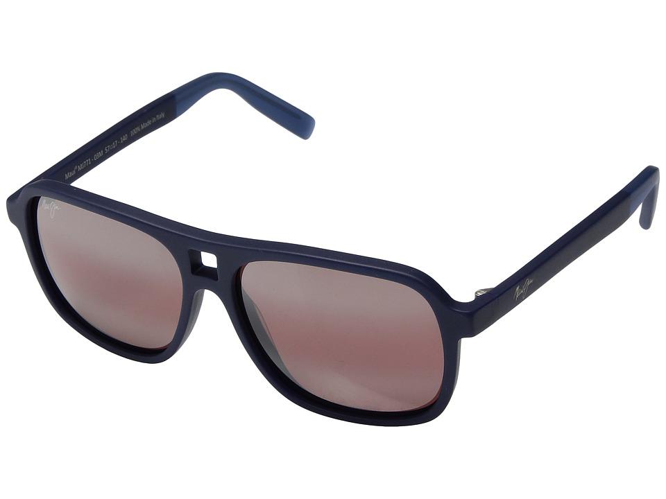 Maui Jim - Little Maks (Matte Blue) Athletic Performance Sport Sunglasses