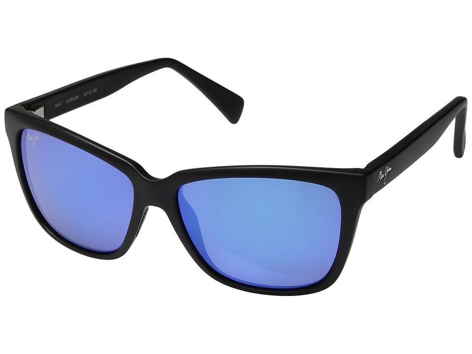 Maui Jim - Jacaranda (Black Matte) Athletic Performance Sport Sunglasses