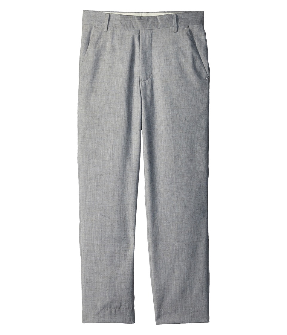 Calvin Klein Kids - Textured Slub Linen Pants (Big Kids) (Light Grey) Boys Casual Pants