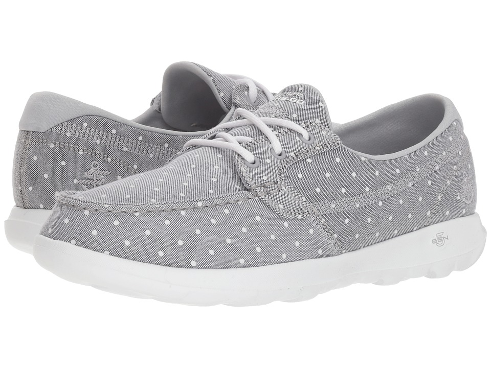 SKECHERS Performance - Go Walk Lite - Soleil (Gray) Womens Lace up casual Shoes