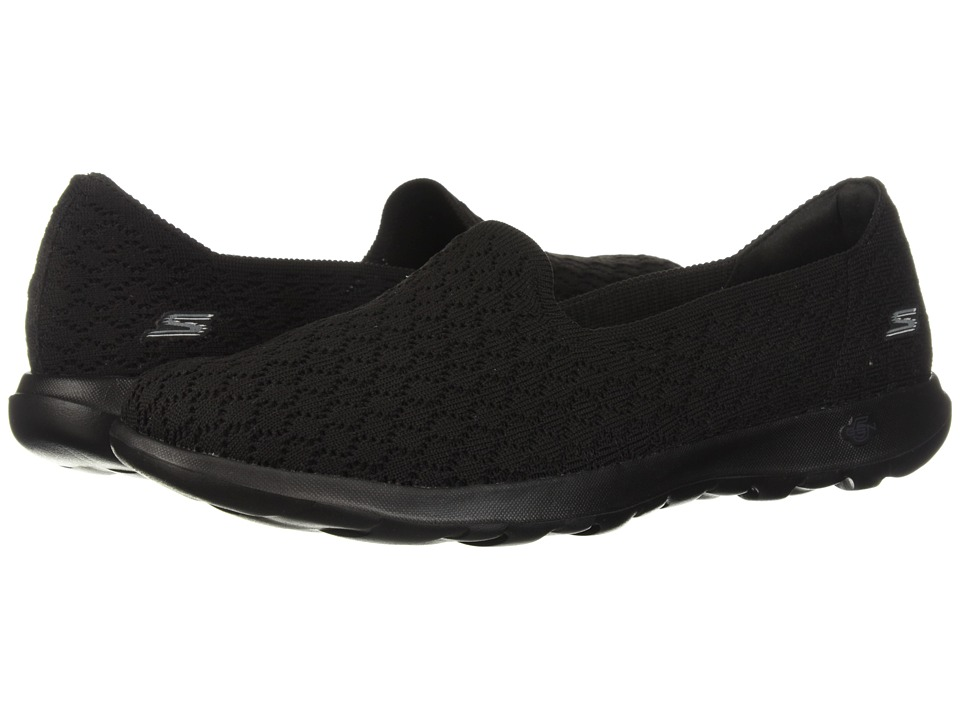SKECHERS Performance - Go Walk Lite - Daisy (Black) Womens Slip on  Shoes