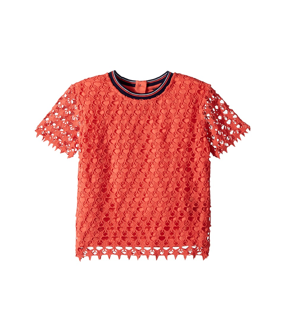 Tommy Hilfiger Kids - Lace Polo (Big Kids) (Hibiscus Tea) Girls Clothing