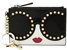 Alice + Olivia Evy Stace Face Pearl Zip Pouch with Key Charm