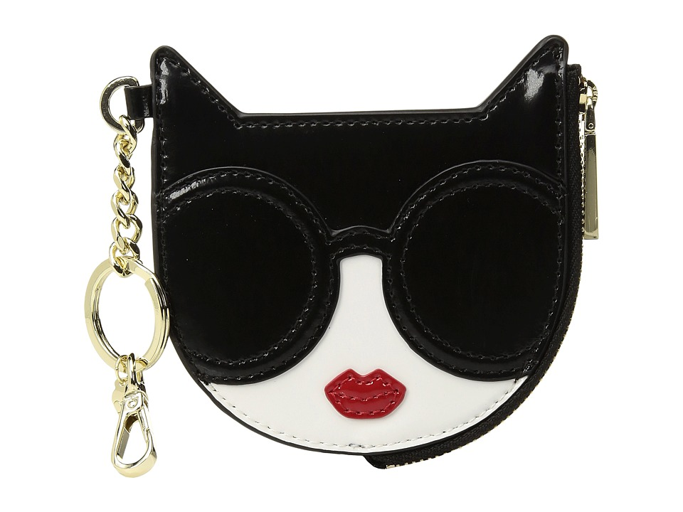 Alice + Olivia - Evy Stace Cat Zip Pouch with Key Charm (Multi) Travel Pouch
