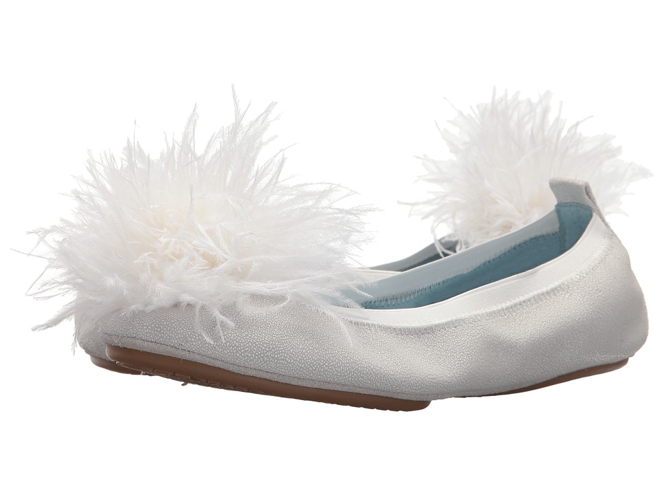 Yosi Samra Marry Me Marabou (White Leather/Pom) Flats