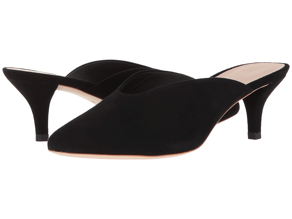 Loeffler Randall Juno Kitten Heel Mule (Black Kid Suede) Women's Shoes