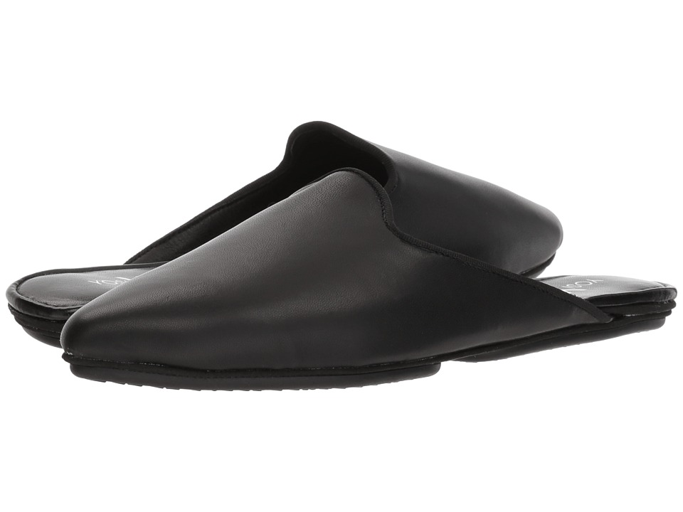 Yosi Samra Vidi Mule (Black Nappa Leather) Women's Clog/Mule Shoes