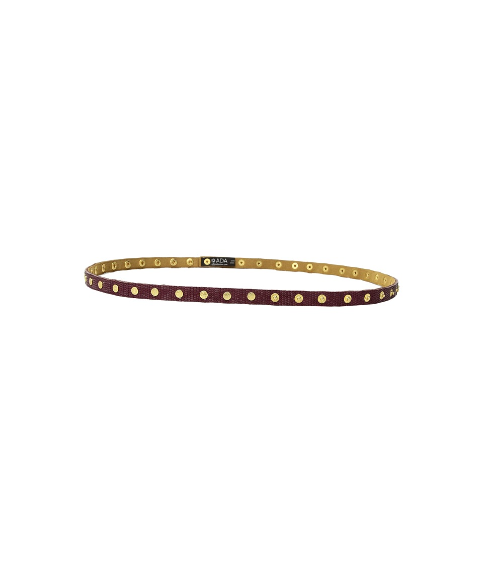 Image of ADA Collection - Cala Belt (Burgundy Small Python) Women's Belts