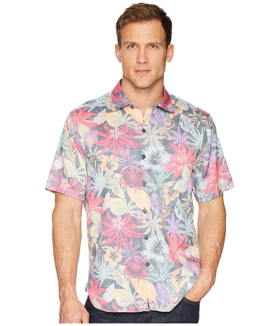 Tommy Bahama Fuego Flora Camp Shirt (Black) Men's Clothing