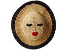 San Diego Hat Company Kids Paper Crochet Sun Brim w/ Face Patch (Little Kids/Big Kids)