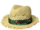 San Diego Hat Company Kids Frayed Edge Fedora w/ Tropical Band (Little Kids/Big Kids)