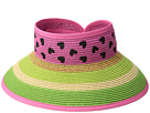 San Diego Hat Company Kids Striped Roll Up w/ Painted Pattern (Little Kids/Big Kids)