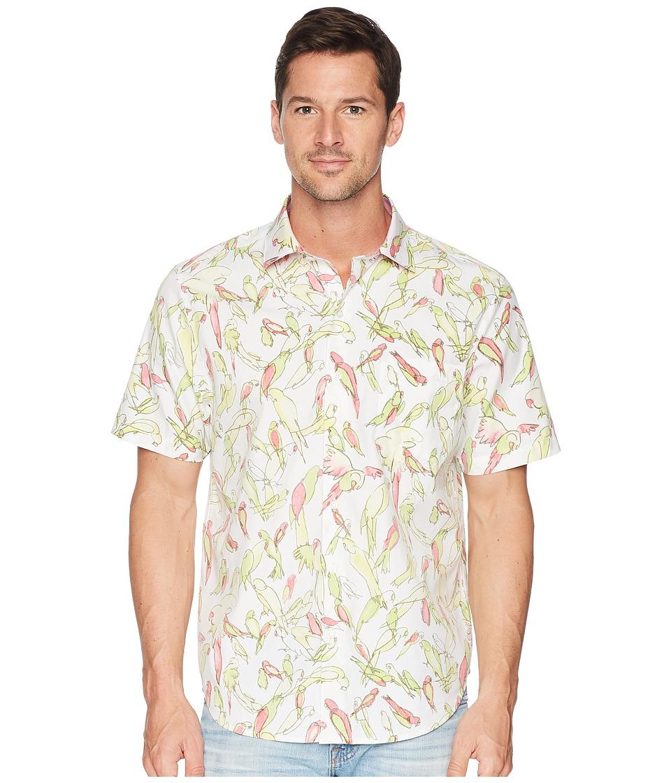 Tommy Bahama Loro Fiesta Camp Shirt (White) Men's Clothing