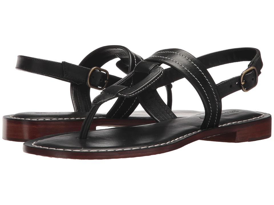 Bernardo Tegan (Black Antique Calf) Sandals