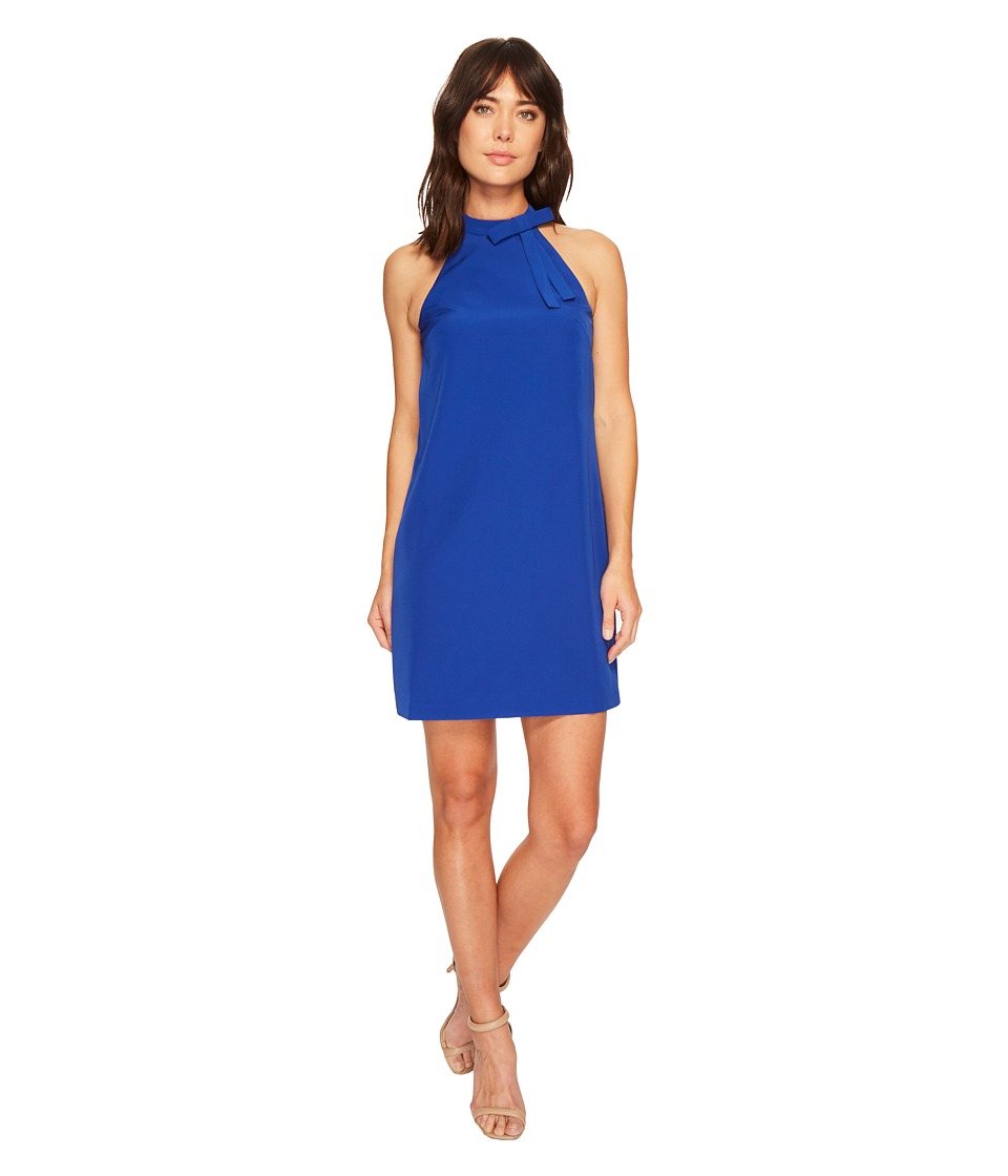 Maggy London - Halter Shift Dress with Necktie (Patriot Blue) Womens Dress