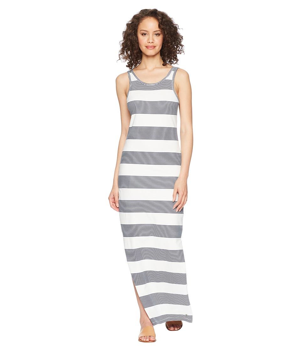 Roxy Tuba Stripes Maxi Dress (Marshmallow Dress Blue Dock...