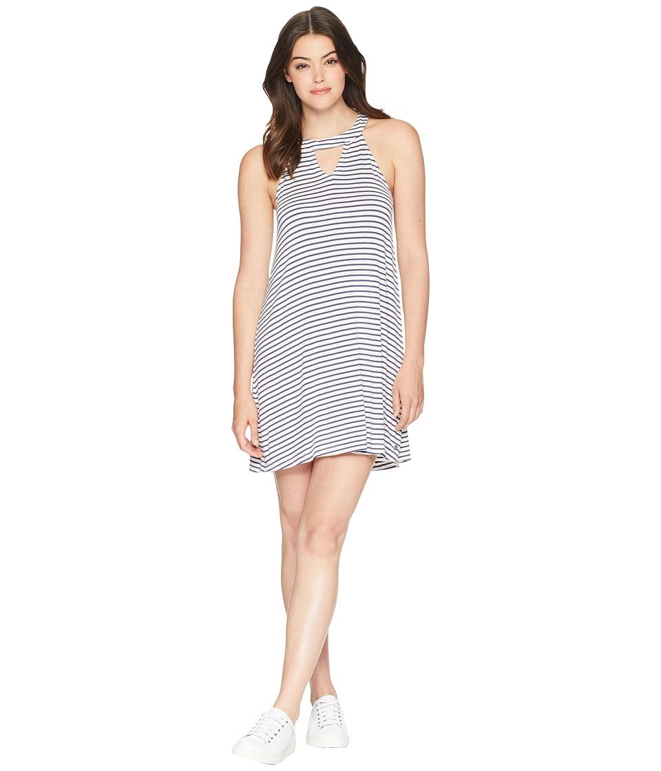 Roxy Indian Plum (Crown Blue Cool Stripe) Women's Dress