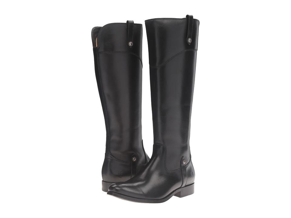 Frye - Melissa Tab Tall (Black) Womens Zip Boots